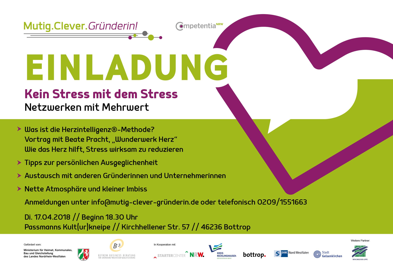 Thema des Abends: Kein Stress mit dem Stress